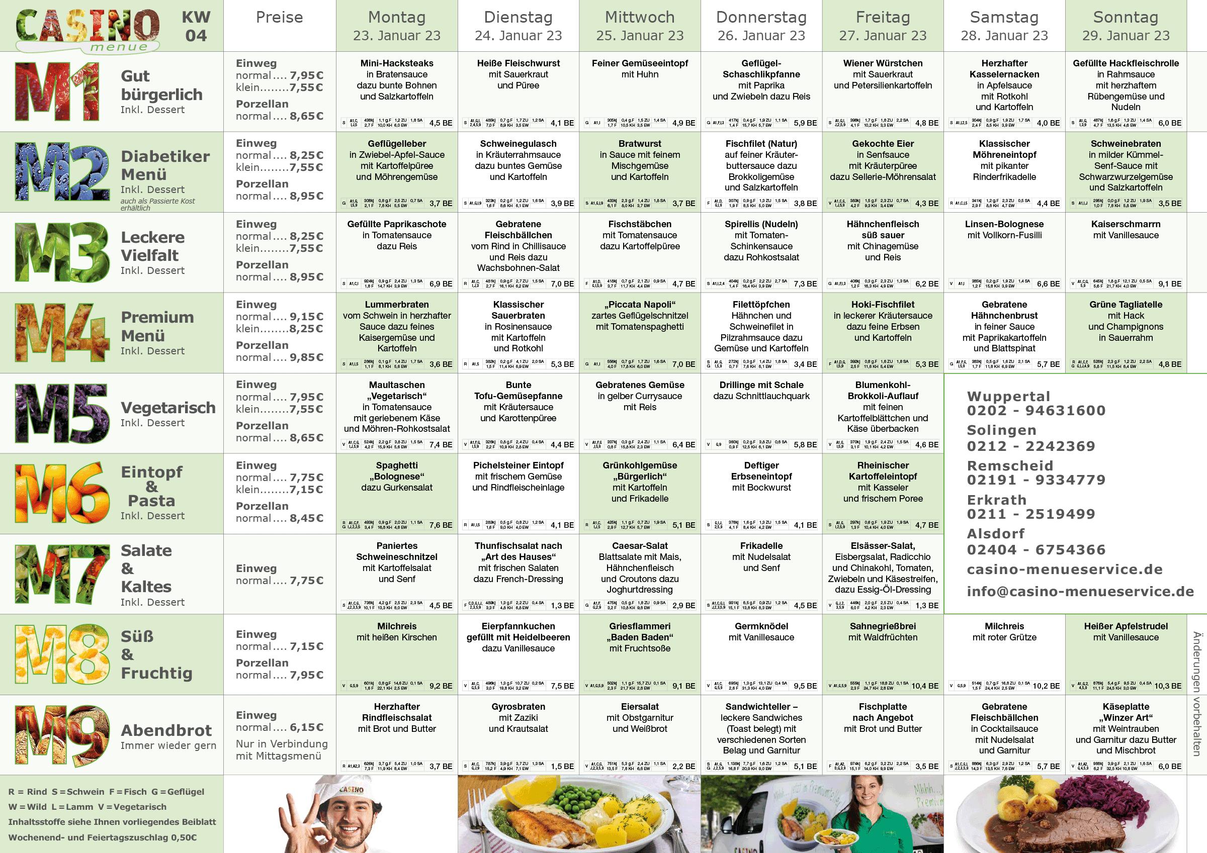 familien kw04 - Heiß & gekühlt Essen auf Rädern